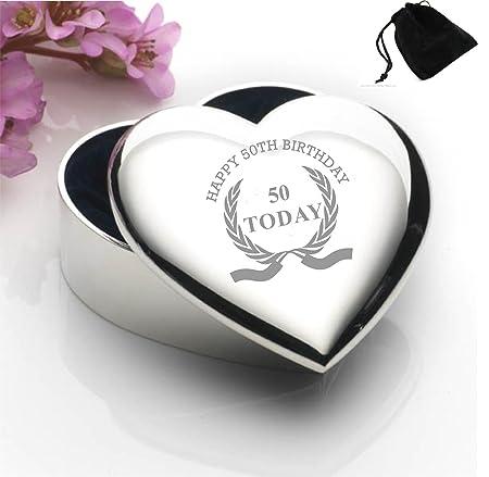 Bañado En Plata Forma de Corazón Joyero con diseño de corona ...