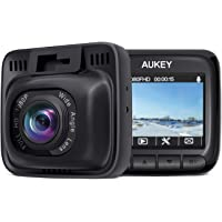 Aukey DR-01 Full HD 1080p Car Dashboard Camera Recorder with 6-Lane 170-Degree Wide Angle Lens, 2