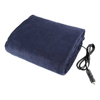 Stalwart 75-hblanket Electric Car Blanket- Heated 12 Volt Fleece Travel Throw for Car and RV-Great for Cold Weather, Tailgating, and Emergency Kits by -BLUE: Automotive