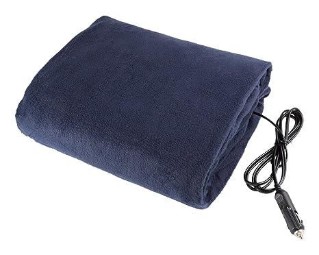 Amazon.com  Electric Car Blanket- Heated 12 Volt Fleece Travel Throw ... 0d70aa297