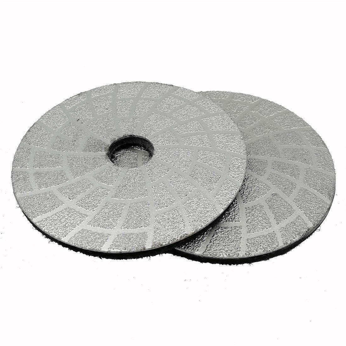 FidgetFidget DIATOOL 2pcs #50 4 Inch Vacuum Brazed Diamond Grinding Disc Dry or Wet Grinding