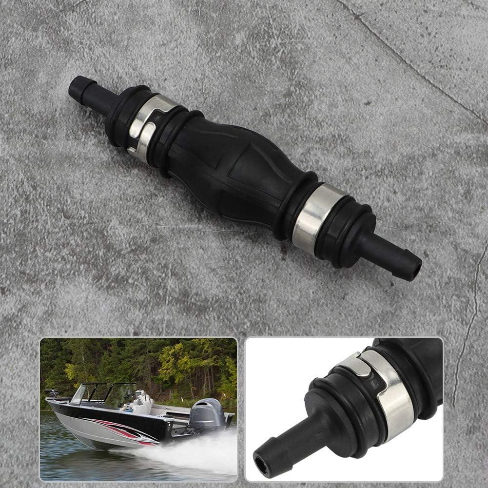 Kimiss Universal Hochwertige Kraftstoffpumpe Linie Durable Hand Primer Bulb Fit Boot Marine Außenborder Schwarz Auto