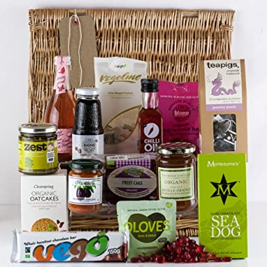 Christmas Gifts For Vegans.Natures Hampers Vegan Gift Hamper Healthy Vegan Treat Basket Vegan Food Hamper Birthday For Him Birthday For Her Christmas Gifts Xmas