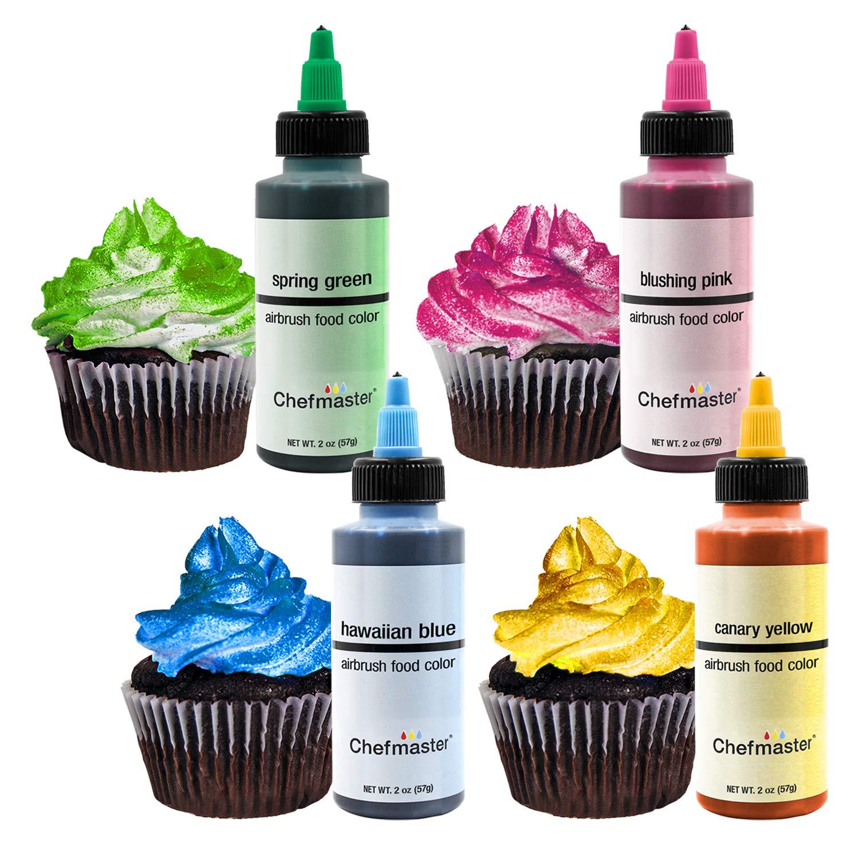 U.S. Cake Supply by Chefmaster Deluxe 24 Color Airbrush Cake Color Set - 2 fl. oz. Bottles & Bonus Color Mixing Wheel by U.S. Cake Supply (Image #2)