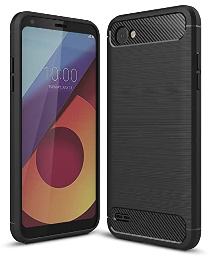 LG Q6 Back Cover-Mobilix(TM) Premium Carbon Fiber TPU Back Cover For LGQ6