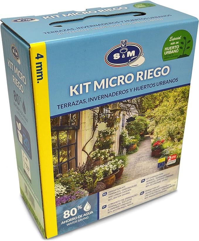 Buluri Sistema de Riego Jard/ín 40M 3M Kit de Riego por Goteo Autom/ático Accesorios para Riego Interior y Exterior con Boquilla Ajustable para Jard/ín Invernadero Patio Plantas