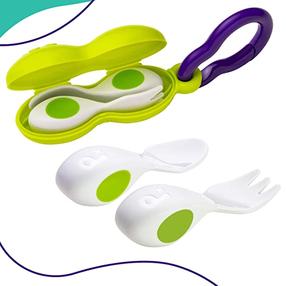 2 Piece Spoon /& Doddl Cutlery Set for Children Toddlers /& Babies 12 Months