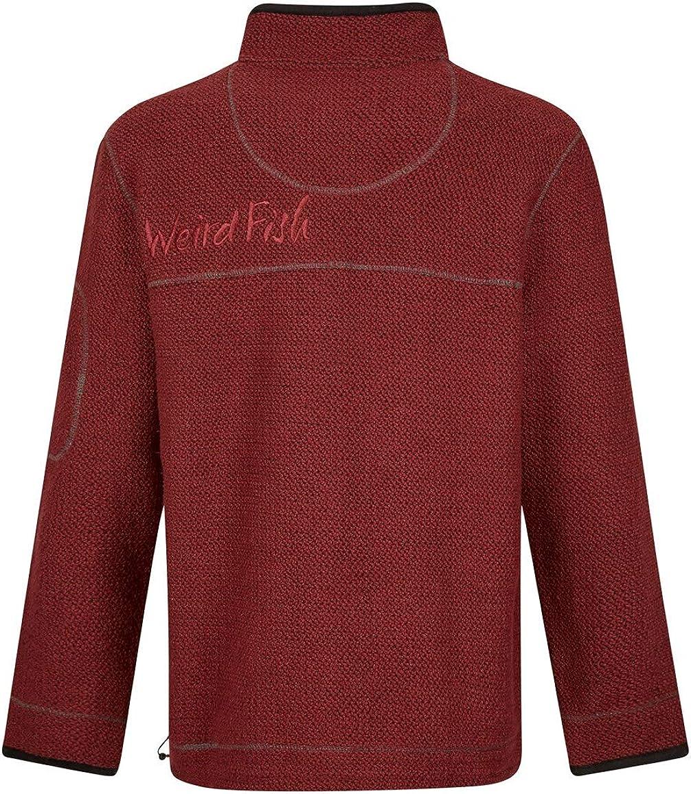 Weird Fish Parkway 1//4 Zip Tech Macaroni Sweatshirt