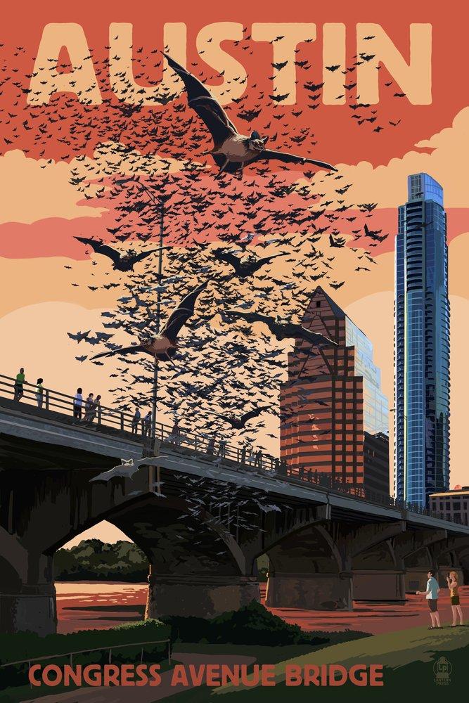 最新の激安 Austin, Texas - Decor Bats B07B2B28Z3 - and Congress Avenue Bridge (16x24 Giclee Gallery Print, Wall Decor Travel Poster) by Lantern Press B07B2B28Z3 24 x 36 Signed Art Print 24 x 36 Signed Art Print, カンダマチ:59dc3163 --- mail.consumer1st.in