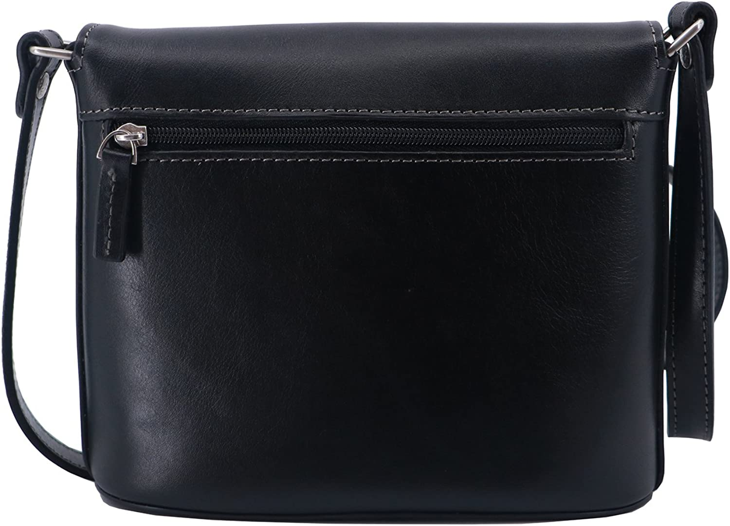 Katana small cow leather Cross Body Bag Black