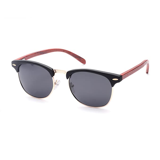 Amazon.com: SKADINO Wayfarer - Gafas de sol de bambú con ...