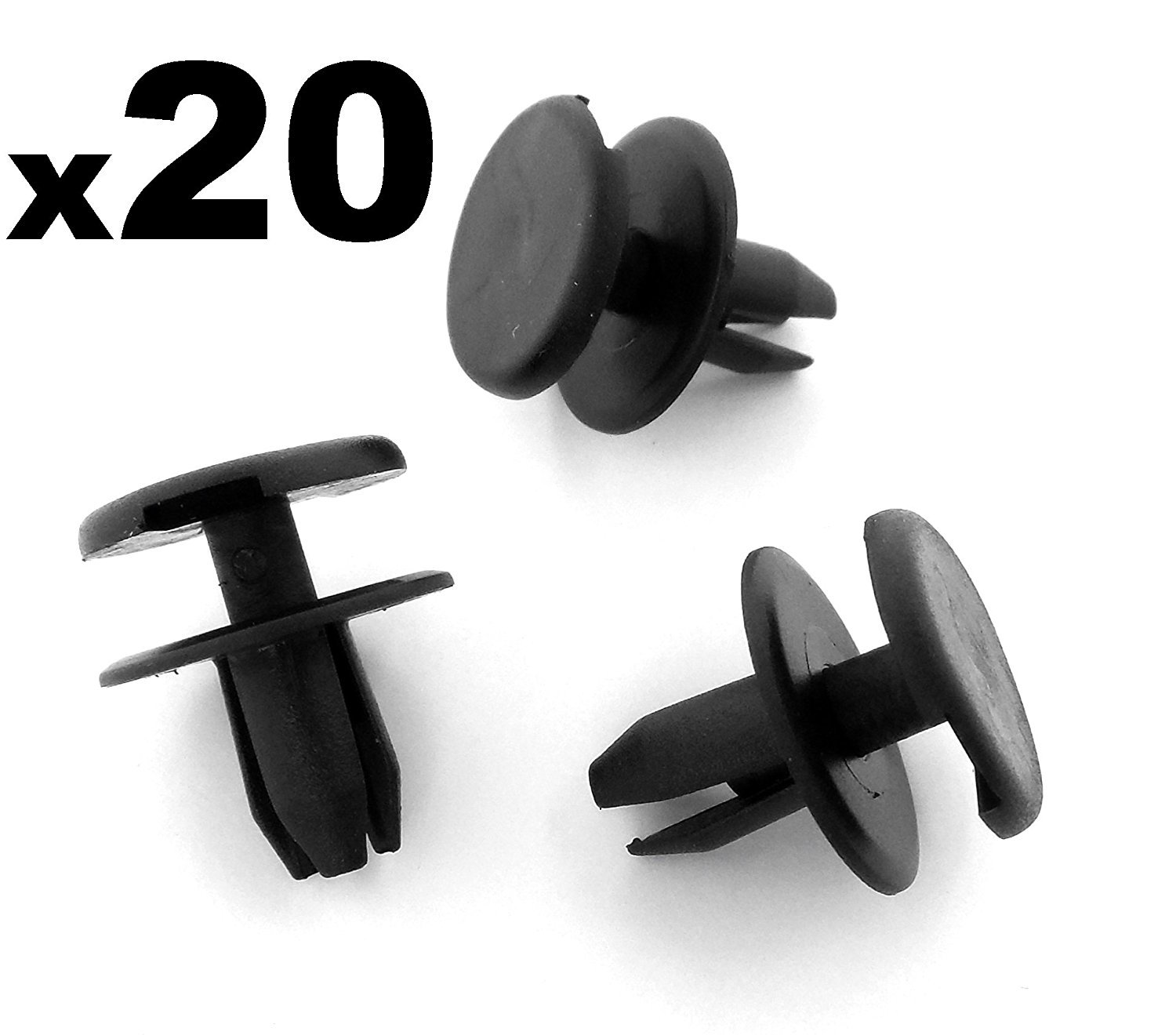 20x Front Bumper Clips / Plastic Rivets for Engine Trim Panels - FREE FIRST CLASS UK POSTAGE! Auto Trim Clips