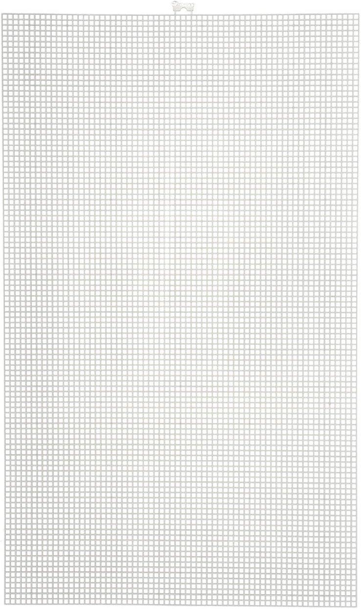 33900-1 Darice Bulk Buy DIY #7 Mesh Plastic Canvas Clear 10.5 x 13.5 6-Pack