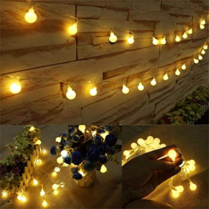 the latest 7c23d 8e93a AMARS 33 Feet LED String Lights Outdoor, 100leds Room Hanging Globe Fairy  Lights, Warm White, Ambient Lighting for Bedroom, Indoor, Camping, ...