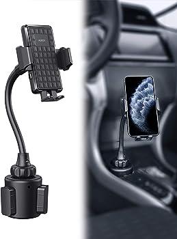 Aukey Adjustable Gooseneck Car Cup Holder Phone Mount