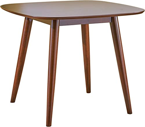 Christopher Knight Home Bass Mid Century Modern Square Faux Wood Dining Table