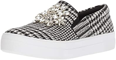 Kate Spade New York Women s Gizelle Sneaker Black White Prince Off Whales  Houndstooth Wool 5 1b02fc93ab