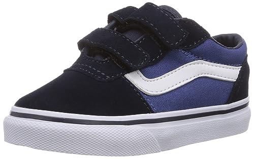 00e596a6155f0 Vans MILTON V - Zapatillas de piel para niño azul Blau ((Suede Canvas) FM4)  25