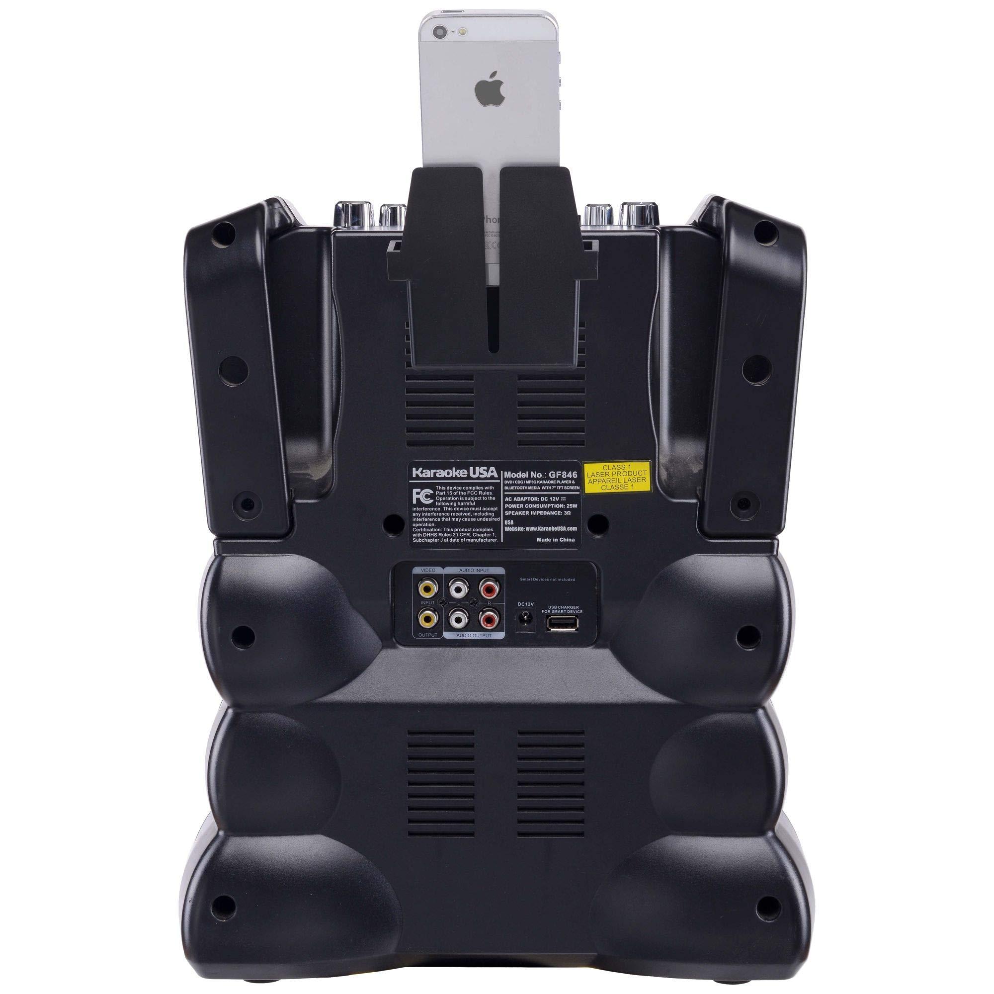 Karaoke USA GF846 DVD/CDG/MP3G Karaoke Machine with 7'' TFT Color Screen, Record, Bluetooth and LED Sync Lights by Karaoke USA (Image #6)