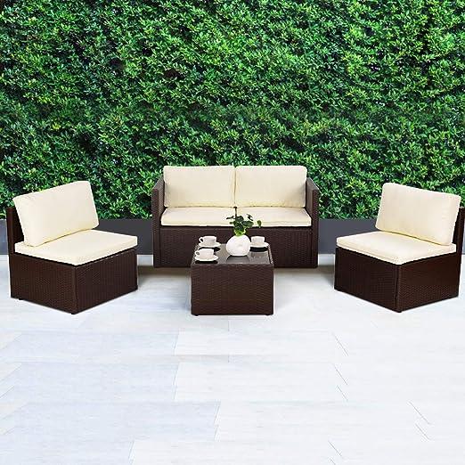 Amazon.de: Casart 5 x Rattan Outdoor Möbel Sofa Set Luxus ...