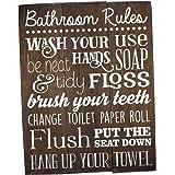 Bathroom Rules Sign Bathroom Rules Sign Rustic Kids Bathroom Art Kids Bathroom Wall Decor Rustic Bathroom Sign Bathroom Wall Art