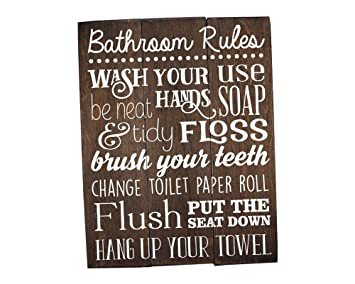 Superb Bathroom Rules Sign Bathroom Rules Sign Rustic Kids Bathroom Art Kids Bathroom  Wall Decor Rustic Bathroom