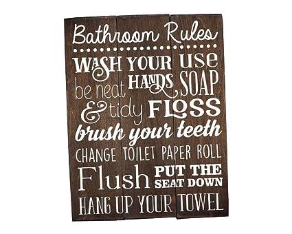 Cool Elegant Signs Bathroom Rules Sign Rustic Kids Art Wall Decor Download Free Architecture Designs Sospemadebymaigaardcom