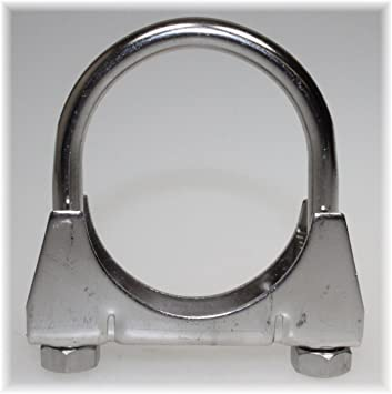 Stahl verzinkt /Ø 29-106 mm Rohr-Schelle Auspuff-Schelle Klemm-Schelle Auspuff Verbinder Durchmesser:/Ø 41 mm//Artikel 10660 M8 B/ügelschelle