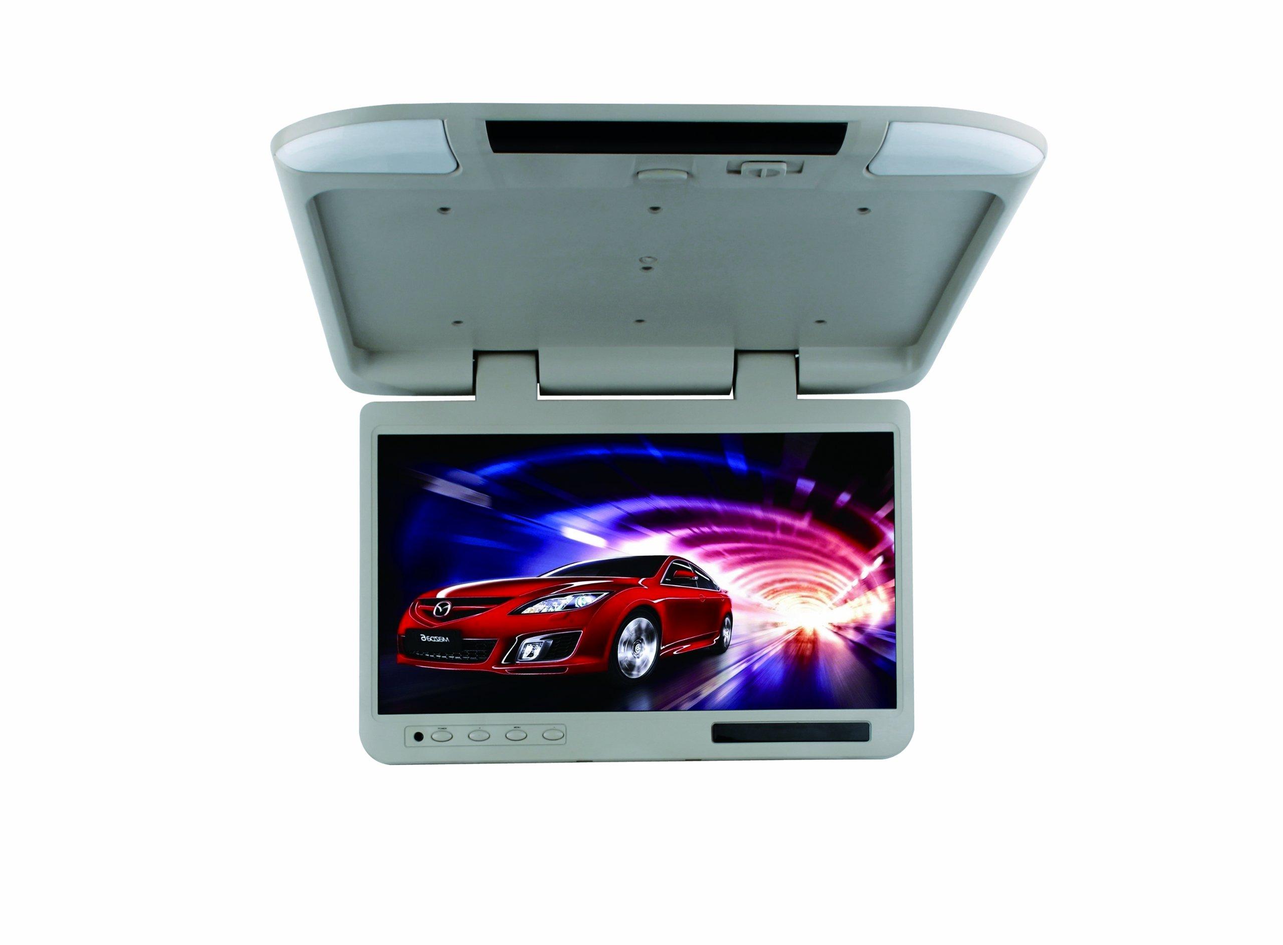 Tview T257IR-GR Wide Screen Flip Down Monitor - Grey