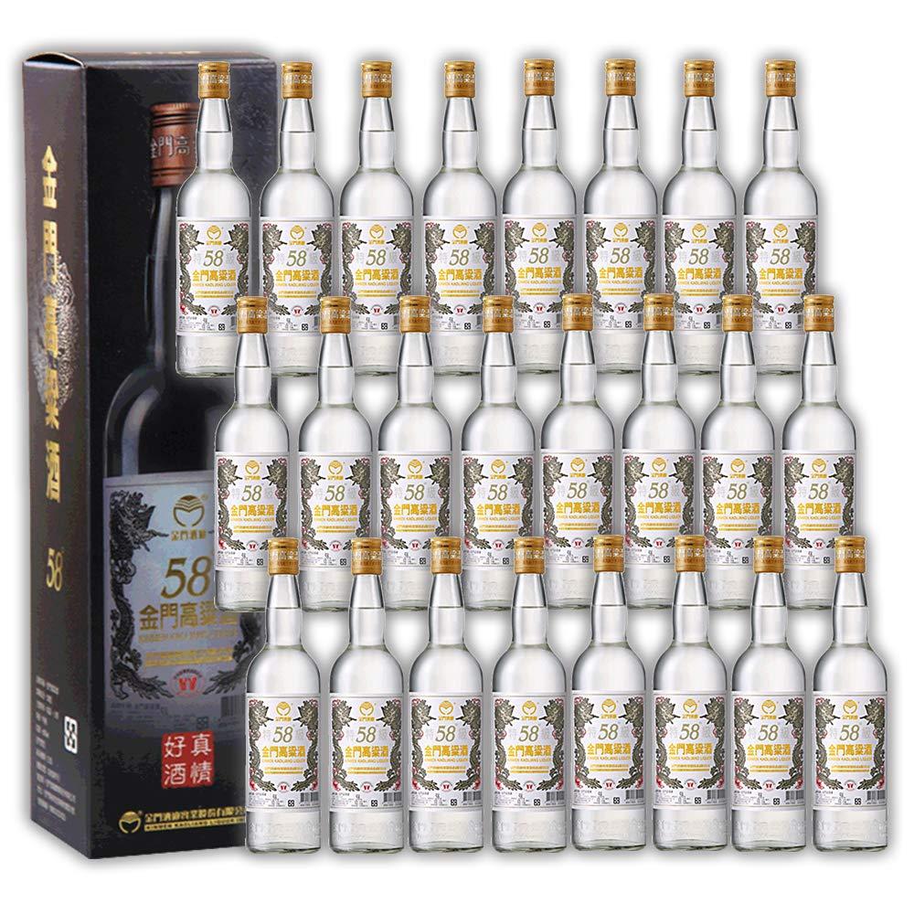 【金門湾】 金門高粱酒 台湾 酒 土産 高粱酒 58度 300ml (24本) B07CYY4RSC 24本