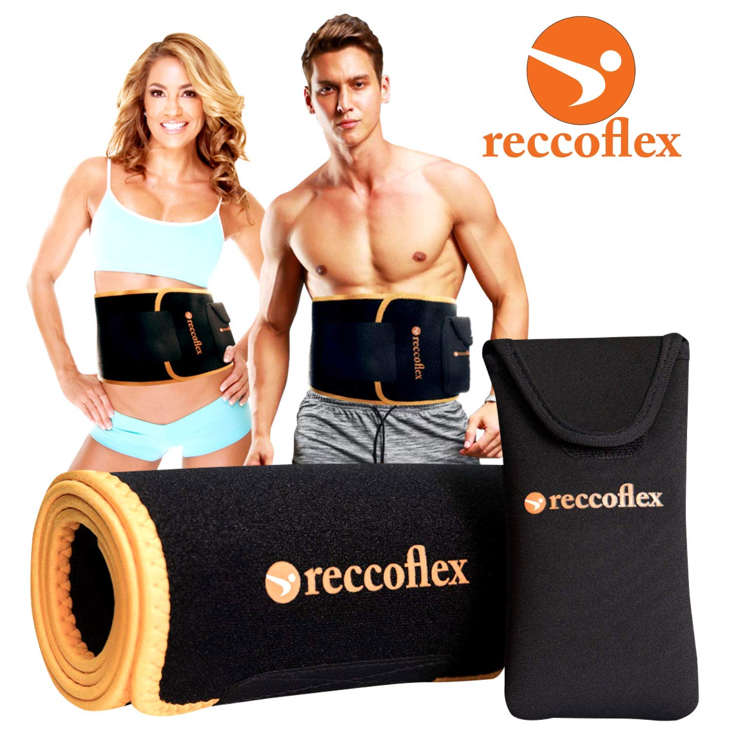 Waist Trainer Sweat Belt and Waist Trimmer for Women and Men Stomach Wraps for Sauna Belt Effect Mens Waist Trimmer Belt and Waist Bands for Intense and Effective Workouts