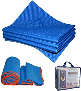 Khataland Yoga Set - YoFoMat (Patented Folding Yoga Mat) + Equanimity Premium Yoga Towel + Travel Bag