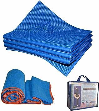 Khataland Yoga Set - YoFoMat (Patented Folding Yoga Mat) + Equanimity Premium Yoga Towel + Travel Bag