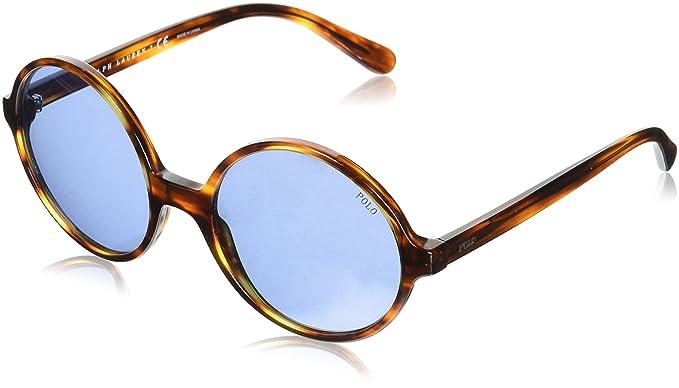 Polo 0PH4136 Gafas de sol, Redondas, 55, Striped Havana ...
