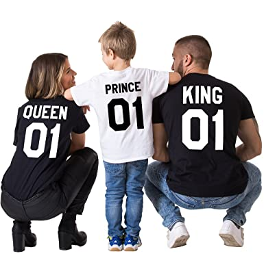 King Queen Prince 01 Shirts Father Mother Son Cute Family Outfit At