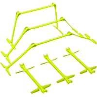 """Sahni Sports Quickplay Pro Adjustable Height: 6"""", 9"""" + 12"""" All-In-One Speed Hurdles (Set Of 6) Speed Training Hurdles"""