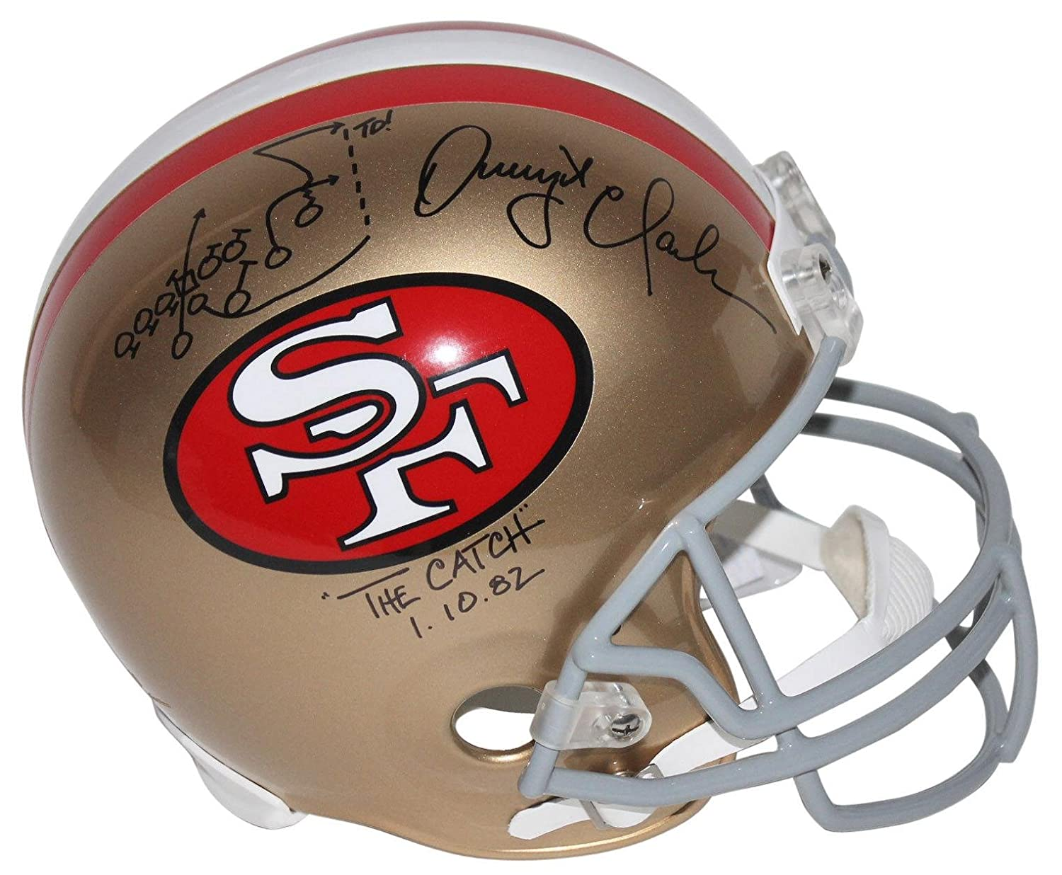 Amazon.com: 49Ers Dwight Clark 'The Catch' Signed F/S Rep Helmet W/Hand  Drawn Play - PSA/DNA Certified - Autographed NFL Helmets: Sports  Collectibles