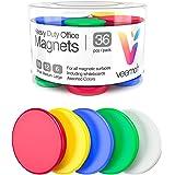 32 件 Veemoh 重型办公室磁铁包 - 办公室、厨房、冰箱、白板磁贴套装(1) Assorted - Red, White, Green, Blue, White 36 Pack VOM01A