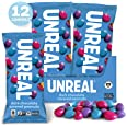 UNREAL Dark Chocolate Peanut Gems | Certified Vegan Fair Trade, Non-GMO | Made with Gluten Free Ingredients and Colors from N