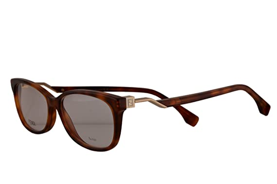 a90d548c0de2 Fendi FF0233 Eyeglasses 54-15-140 Dark Havana w Demo Clear 54mm Lens 086 FF  0233  Amazon.co.uk  Clothing