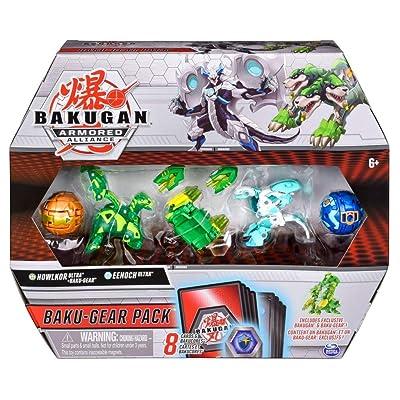 Bakugan Baku-Gear 4-Pack, Howlkor Ultra with Baku-Gear and Eenoch Ultra, Collectible Action Figures: Toys & Games