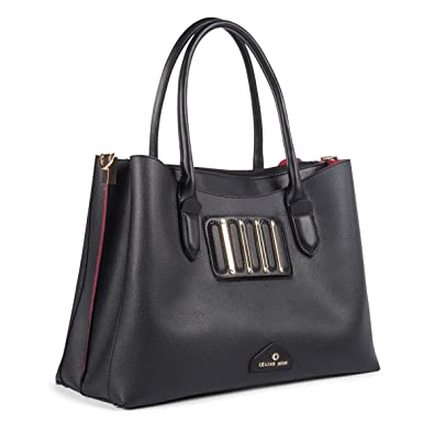 20afe6eaf0 Amazon.com  Céline Dion Interval Satchel SCH5051 (Black)  Shoes