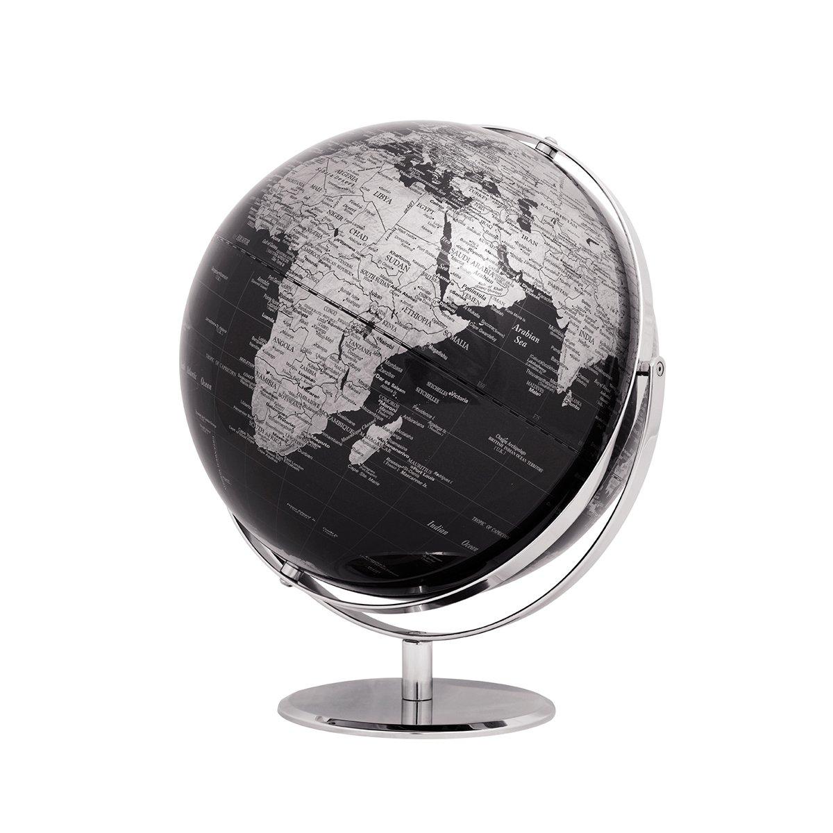Emform Tischglobus Juri schwarz, Metall & Kunststoff, 300 x 360 mm