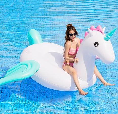 YUJIE Flotador Inflable Gigante De La Piscina del Unicornio 9.5 Pies Juguetes Inflables del Parque Acuático