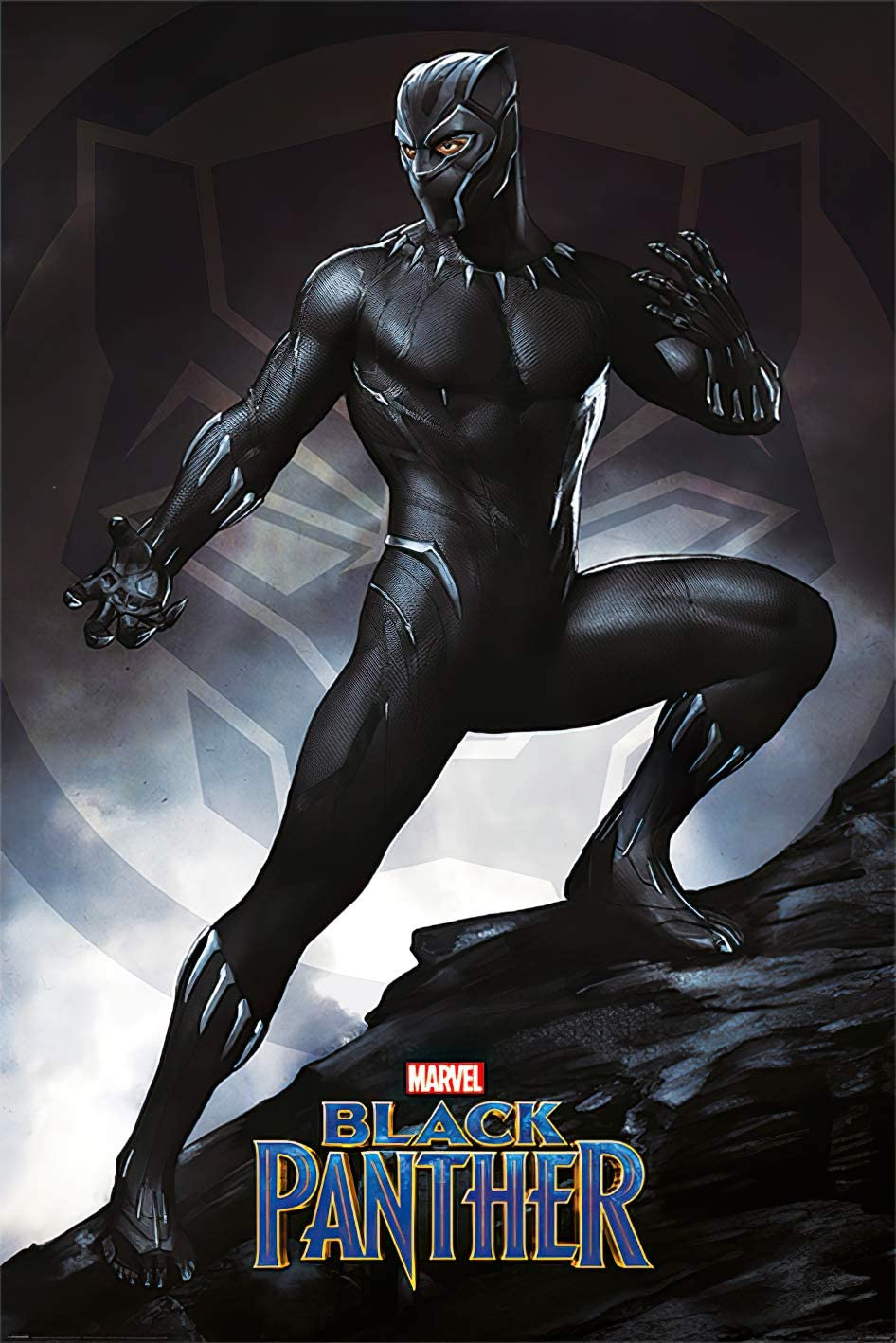Black Panther - Marvel Movie Poster/Print (Stance) (Size: 24 inches x 36 inches)