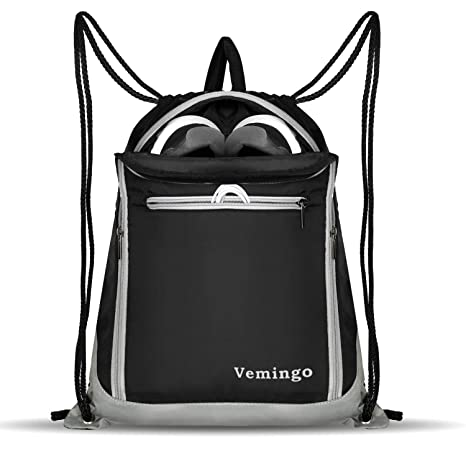 b802adf3fa2e6 Vemingo Drawstring Backpack Bags, Men Women Drawstring Gym Sack Cinch Bag  Backpacks Gymsack Sackpack Waterproof