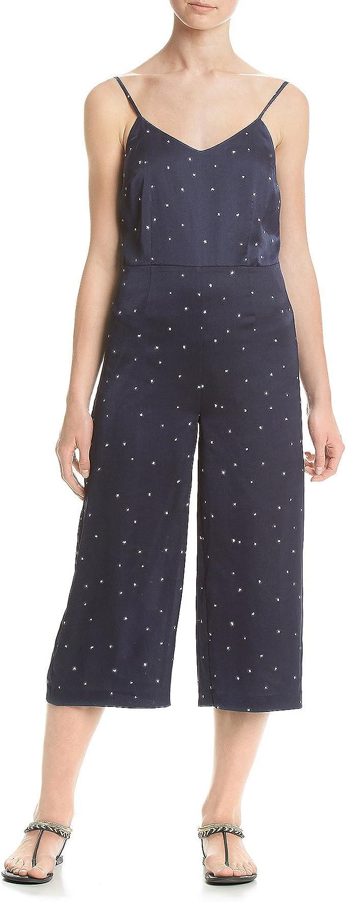 CRYYU Women Deep V-Neck Bodycon Short Sleeve Jumpsuit Romper Denim Jeans Pants