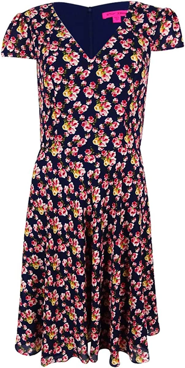 Betsey Johnson Womens Printed Floral Dress
