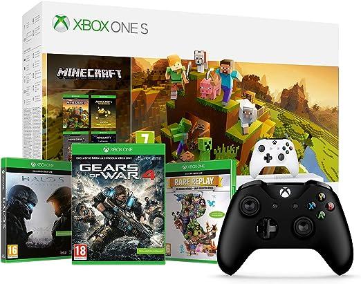 Xbox One S - Consola de 1 TB, color blanco + Minecraft Creators + ...
