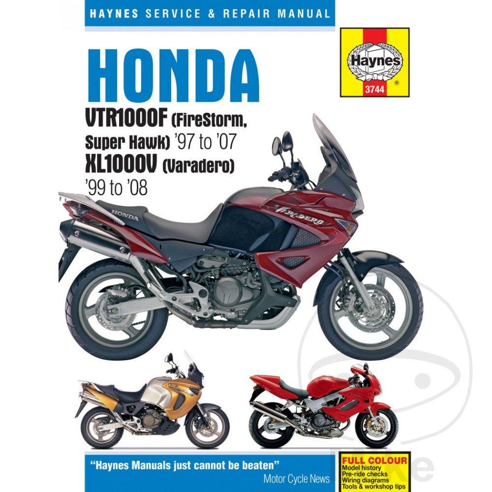 Amazon.com: Haynes Repair/Service Manual 3744 Fits 98-05 Honda VTR1000F  Super Hawk 996: Automotive